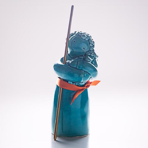 Rosa Malva - Santo João - azul petróleo