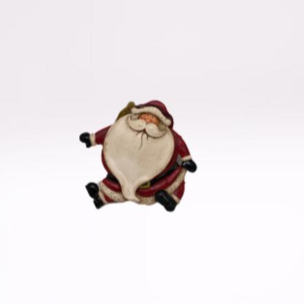 Pai Natal de pendura em fibra com braços para baixo
