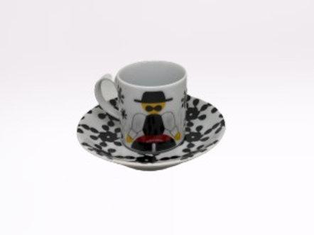 Chávena de café Minhotos (preta)