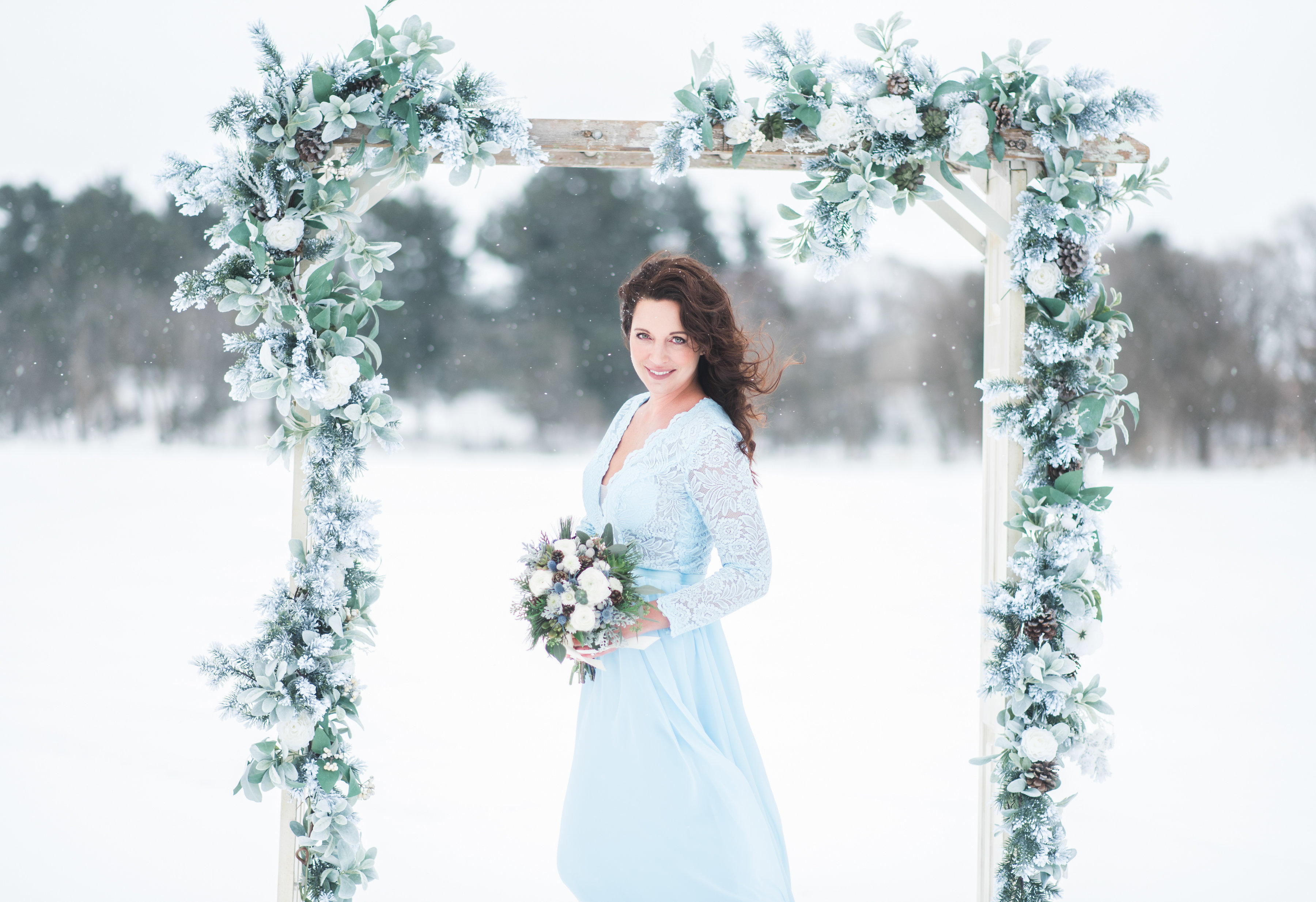Snow Frosted Arch_Bride