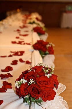 Bridal Bouquets Accent Head Table