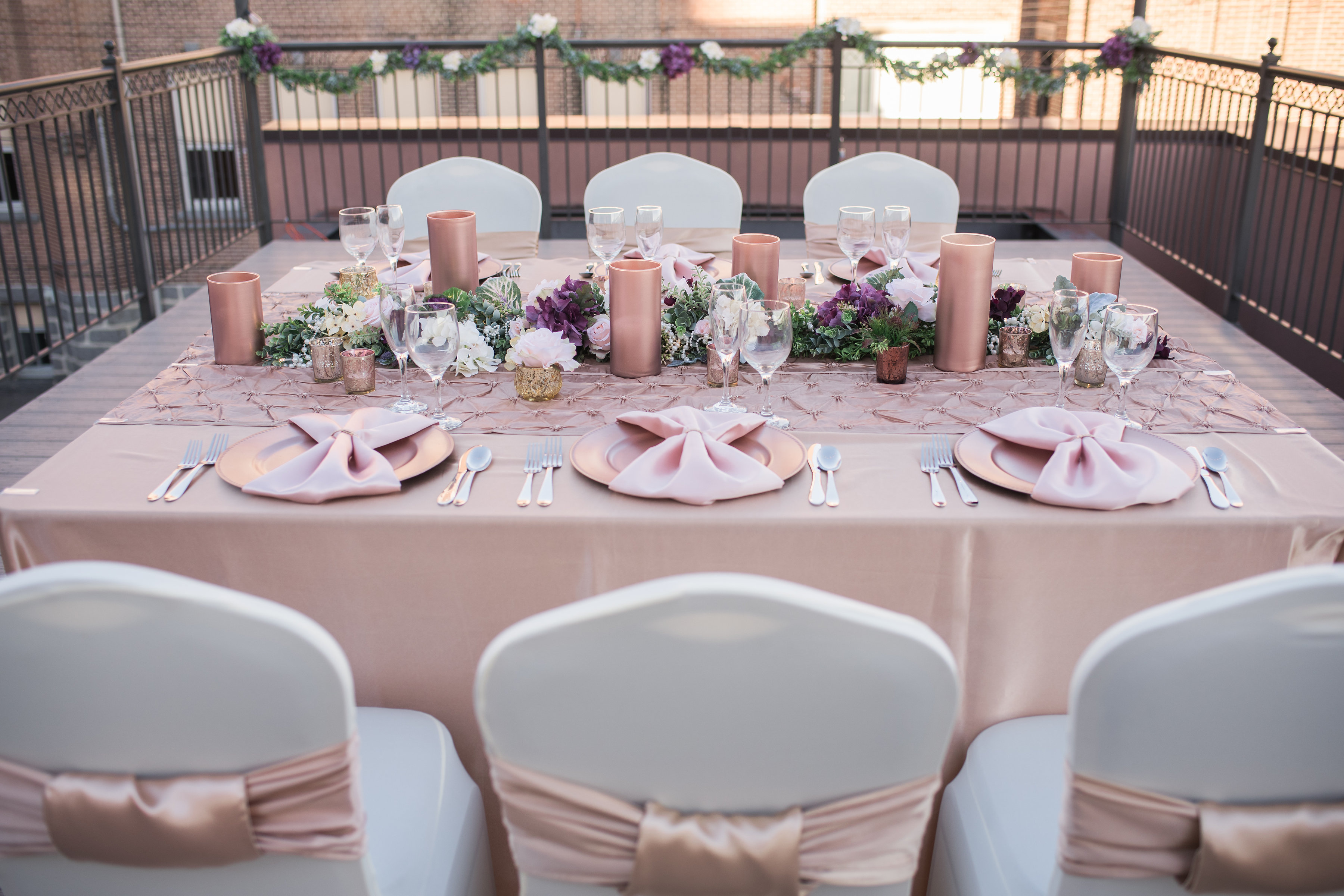 Rose Gold Harvest Table