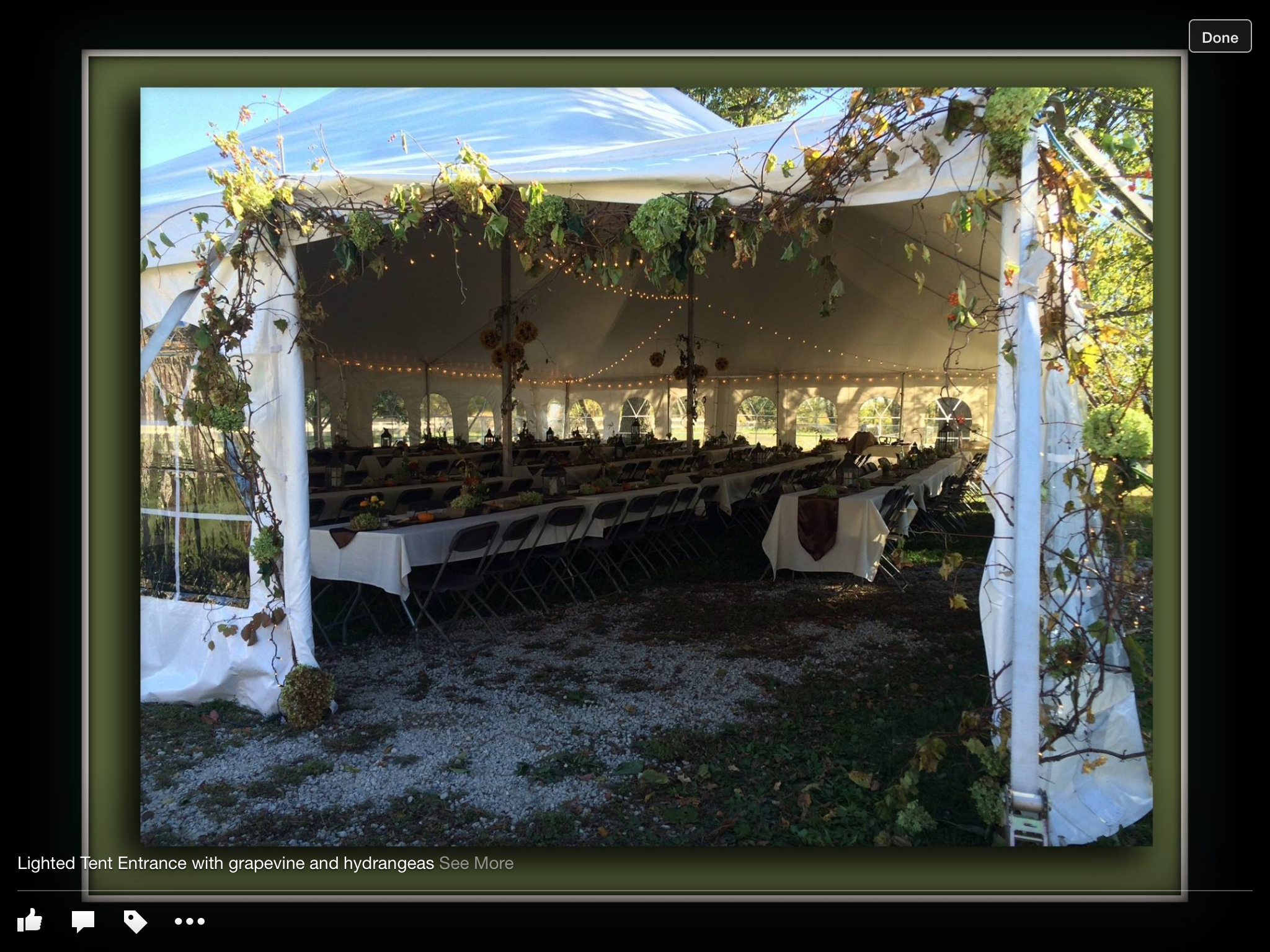 Fall Tent Wedding