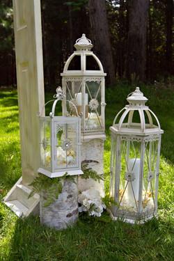 Cream Jeweled Lanterns