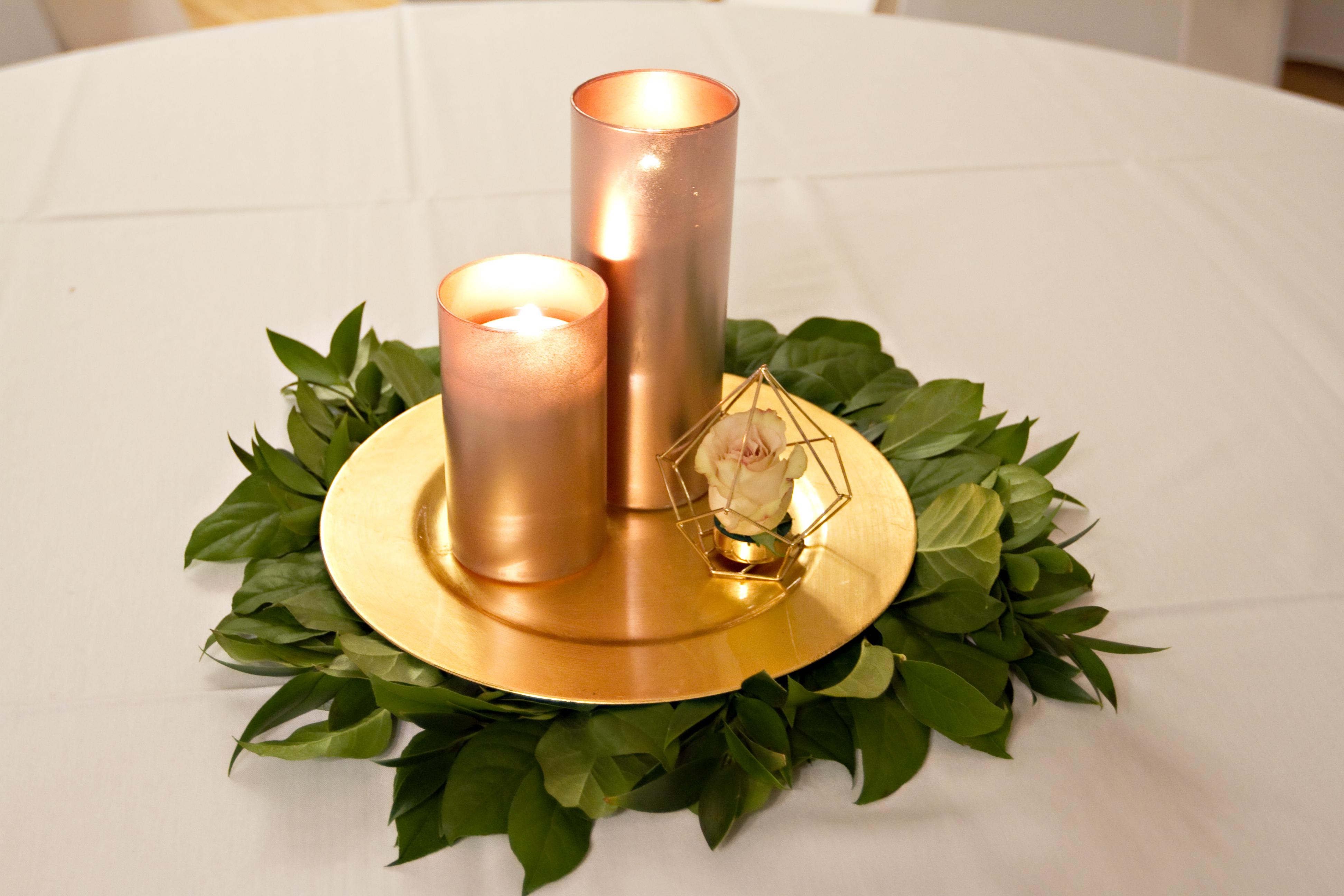 Rose gold cylinder