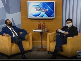 Jomateleno é entrevistado pela TV Gazeta Acre