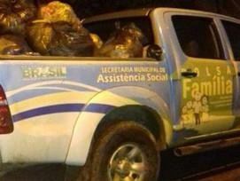 Lixo é transportado de forma irregular no município de Cruzeiro do Sul