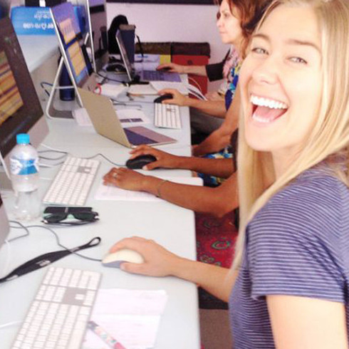 Photoshop courses are held as one-on-one tutoring sessions online or in person. Group classes at Byron Community College.