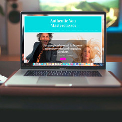 Authentic You Masterclasses-Public speaking website, social media and print collaterol