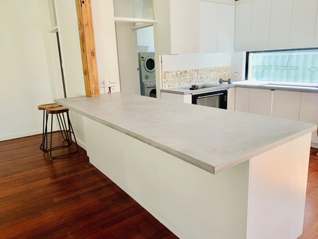 Perth's premium polished concrete benchtops