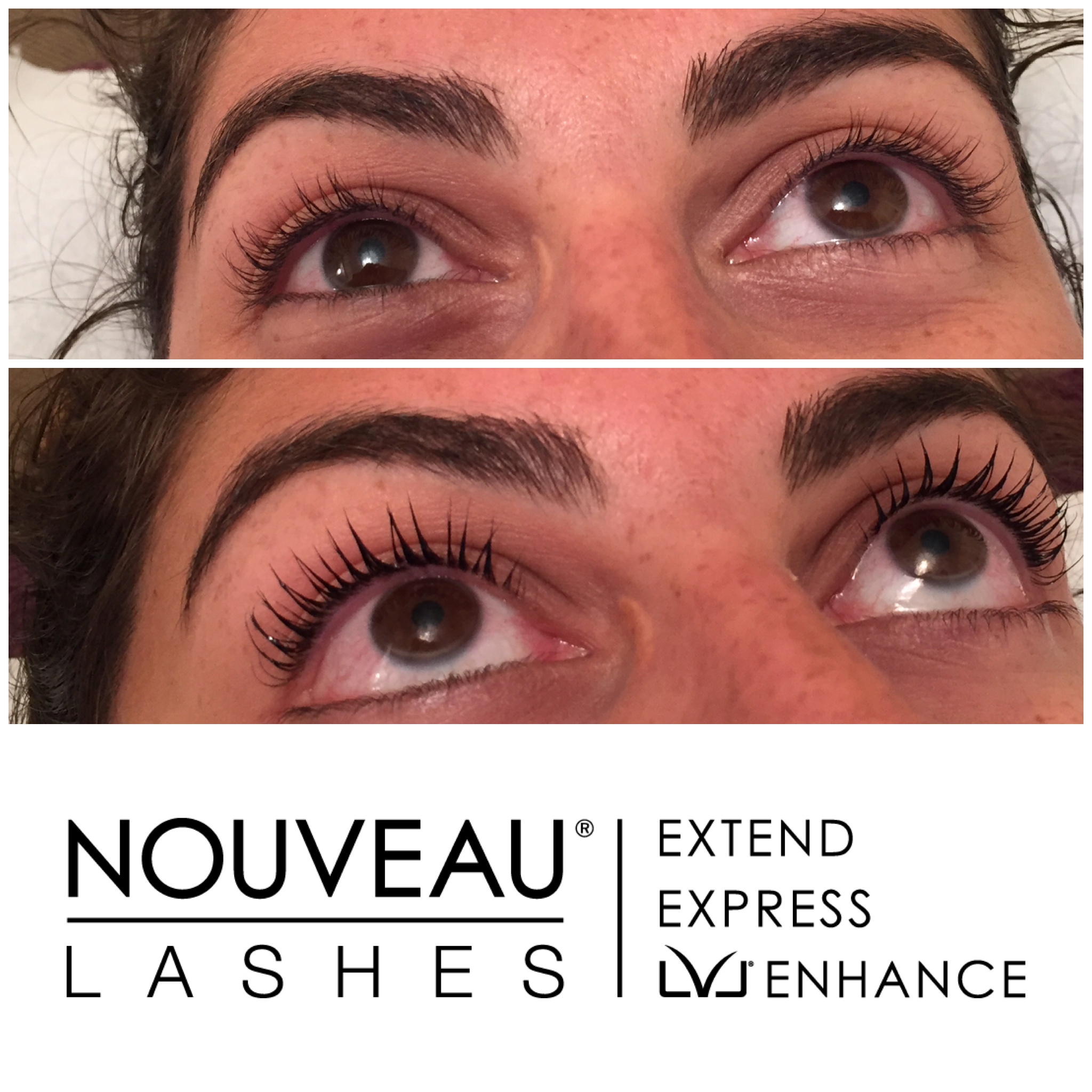 LVL Lashes - Before & after