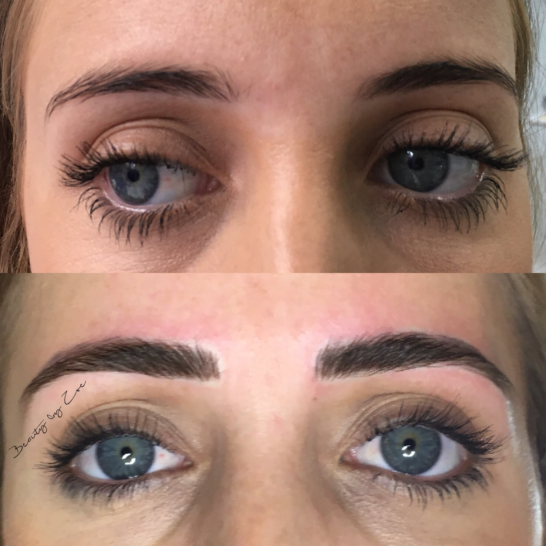 Before & after 3D Microblading