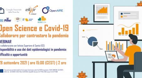 Open science e Covid-19: un webinar di ISS e CNR sull'analisi e la condivisione dei dati