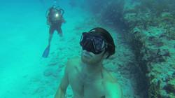 Mexique scuba diving filming