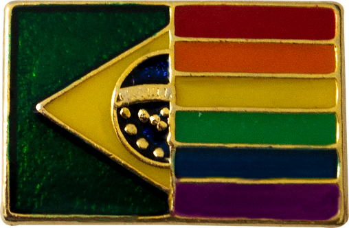 BOTON BANDEIRA BRASIL/LGBT