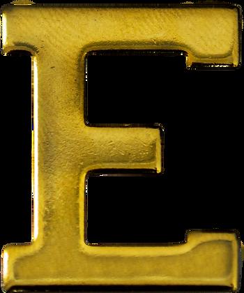 """LETRA """"E"""" 30MM BRAÇAL"""
