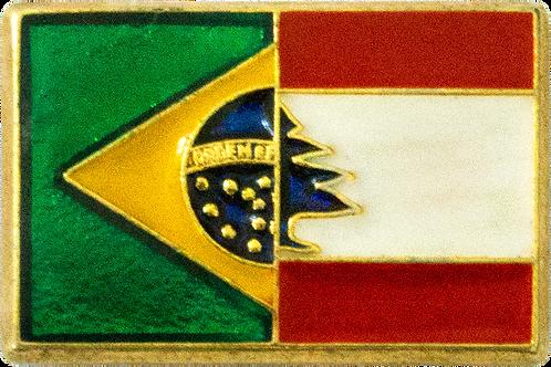 BOTON BANDEIRA DO BRASIL E LIBANO