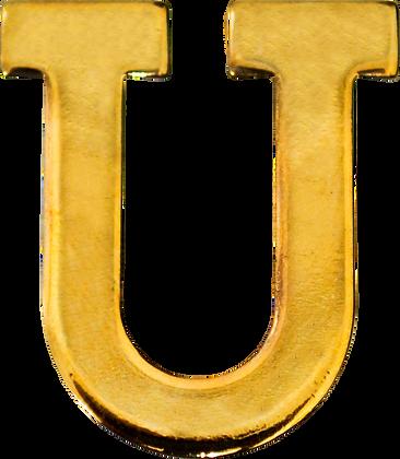 """LETRA """"U"""" 30MM BRAÇAL"""