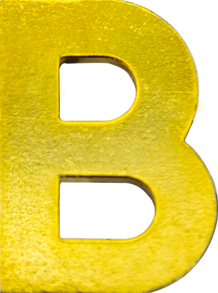 "LETRA ""B"" 20MM BRAÇAL"