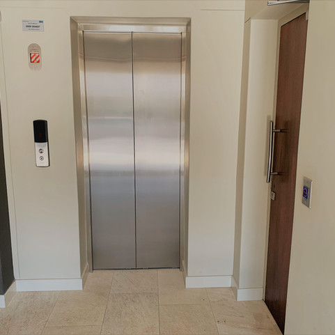 Entrance with elevator access