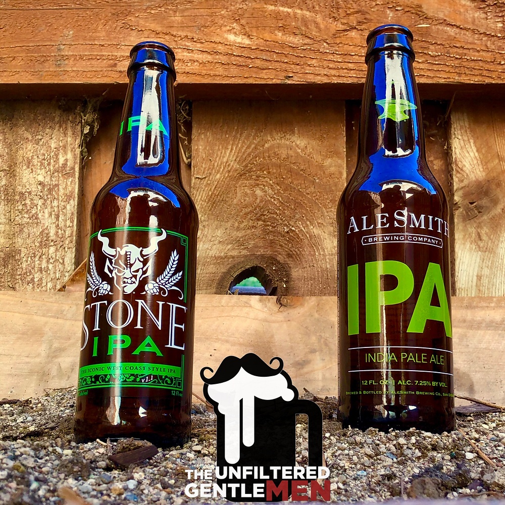 The Unfiltered Gentlemen March Madness Stone IPA vs Alesmith IPA