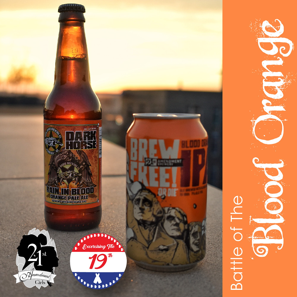 21st Amendment Brew Free or Die vs Dark Horse Rain in Blood