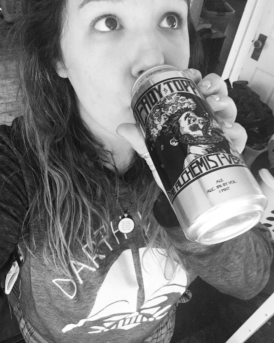 It's The Beer Girl reviewing Heady Topper on The Unfiltered Gentlemen