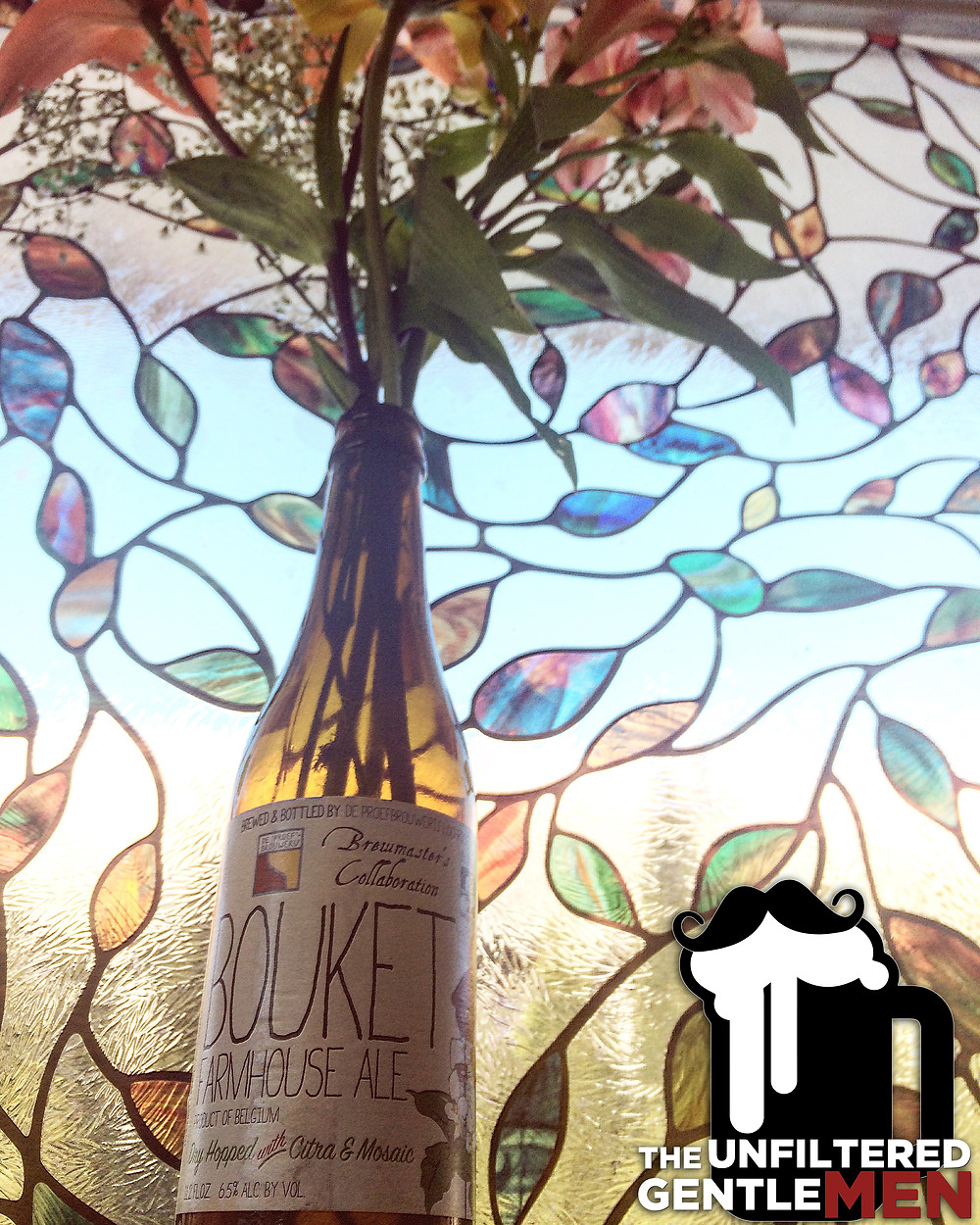 It's The Beer Girl's review of Bouket Farmhouse Ale on The Unfiltered Gentlemen