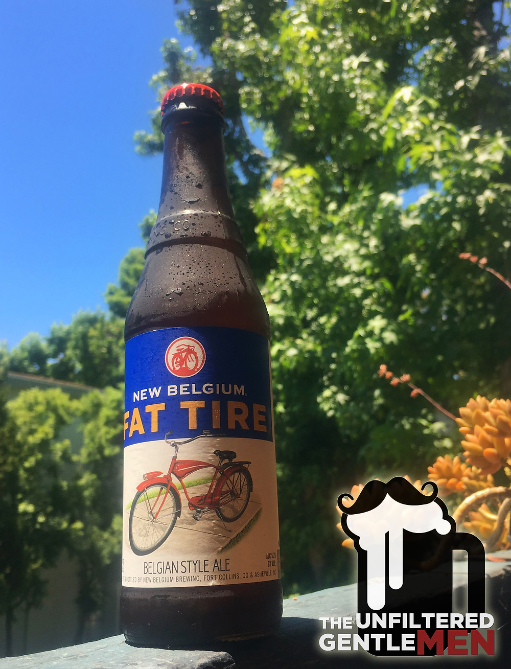 The Unfiltered Gentlemen drinking and reviewing New Belgium's Fat Tire