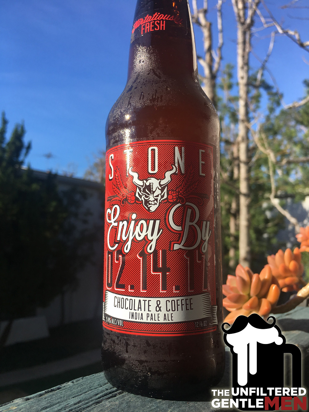 Stone Brewing Enjoy By Review by The Unfiltered Gentlemen