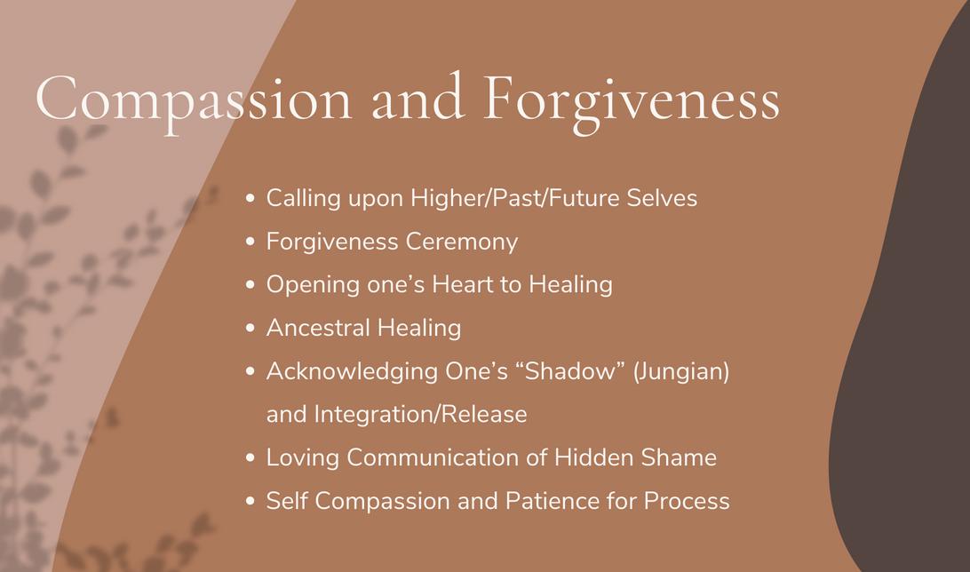 Compassion and Forgiveness