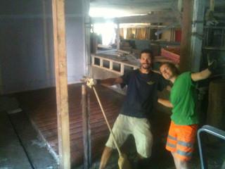 Construction de la chambre froide