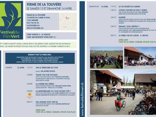 Weekend du Festival du film vert à la Touvière 13-14 avril 2019