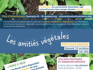 Samedi 13 octobre 2018 de 14h à 20h Les amitiés végétales