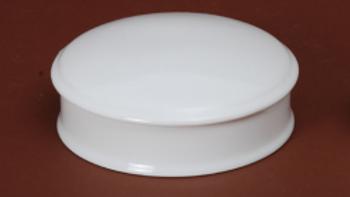 Boite ronde en porcelaine blanche - 10 cm