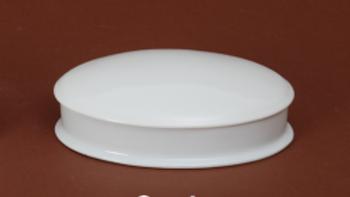 Boite ovale en porcelaine blanche -16 cm