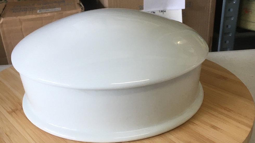 Grande Bonbonnière en porcelaine blanche - 22 cm