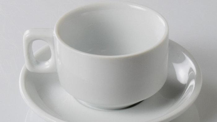 Tasse à Thé bistrot en porcelaine blanche -21 cl