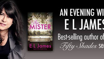 An evening with E L James in Chelsea's Old Town Hall