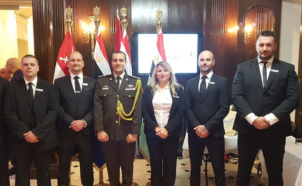 Securing the Egyptian Ambassador and dignitaries for the 44th Egyptian Armed Forces Day.