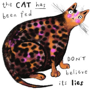 Cats lie so bad