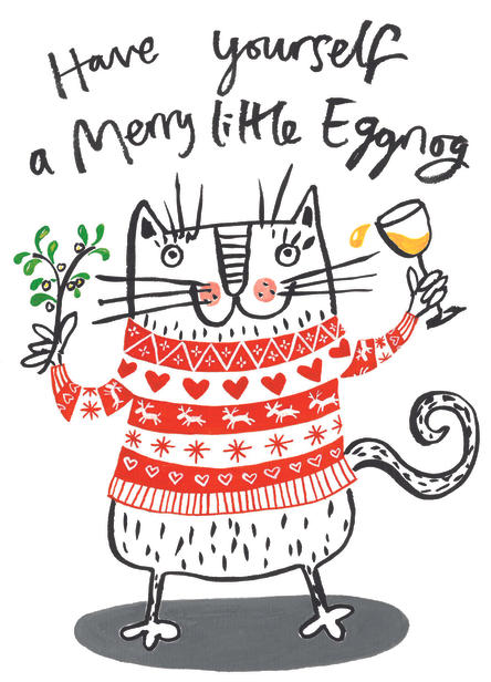 Egg Nog Cat