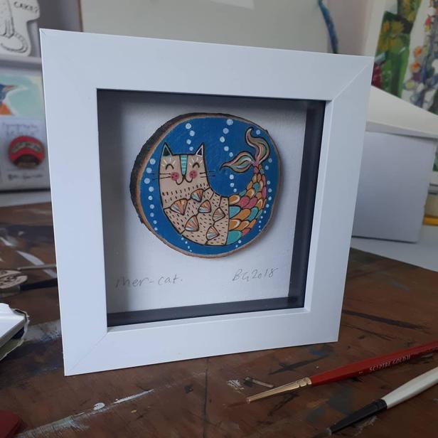Mercat framed