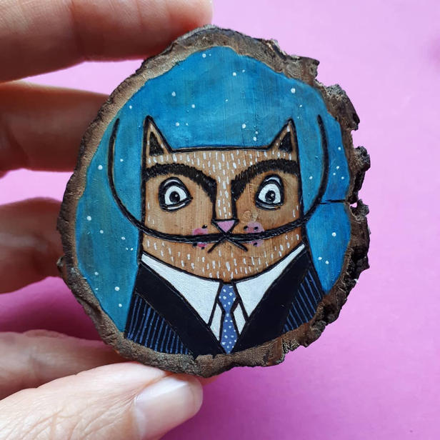 Custom Dali cat for framing