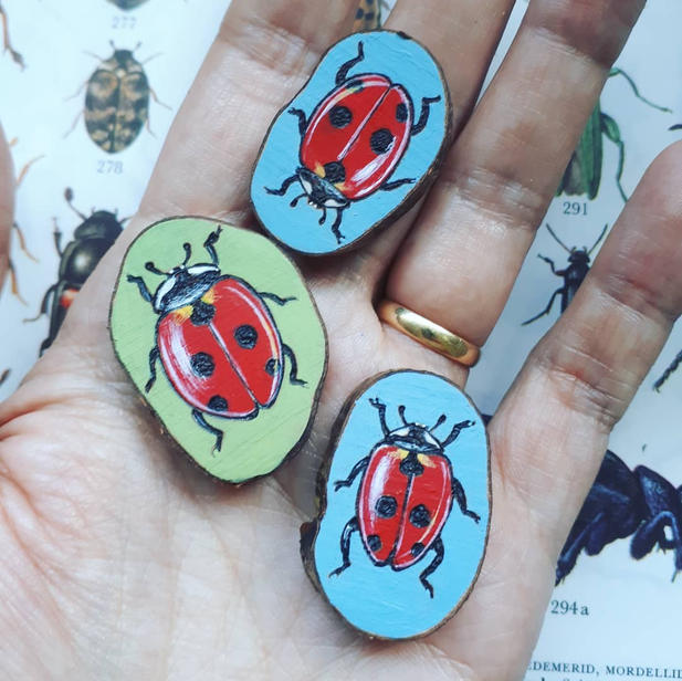 Ladybirds for pendants