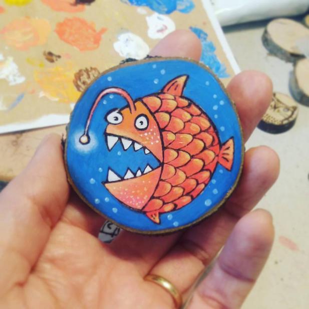 Custom angler fish decoration