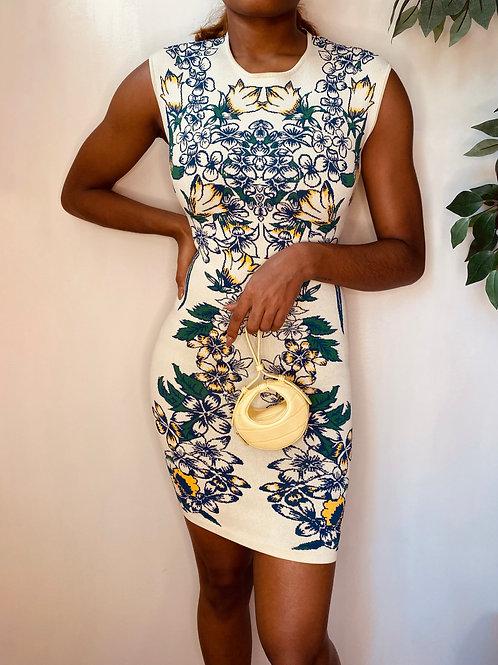 Garden Bodycon Dress, Size S