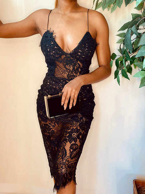 Black Lace Dress, Size S
