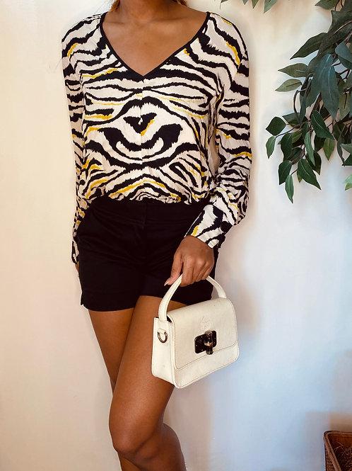 Zebra Print Top, Size S