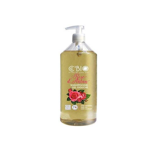 Shampooing douche rose d'antan 500 ml Cébio